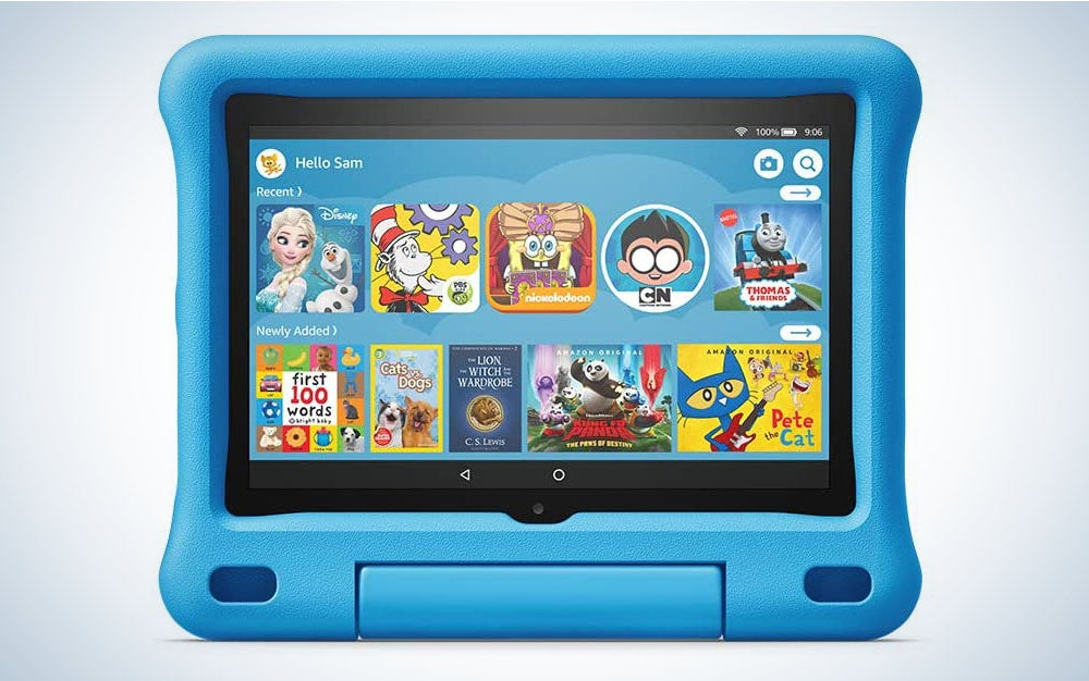The Amazon Fire HD 8 Kids Edition Tablet is the best tablet for kids between three and seven years old.