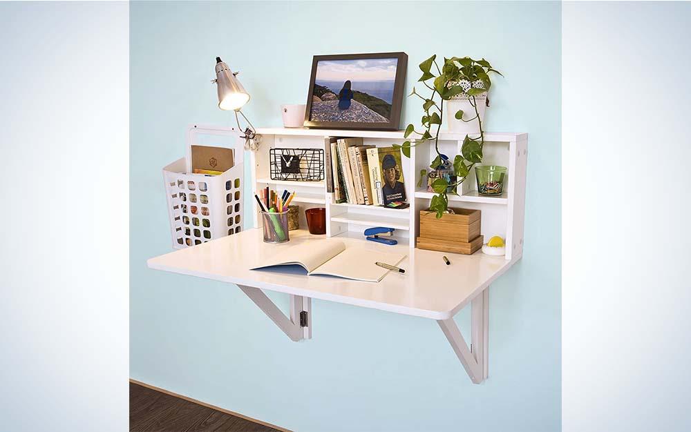 The Haotian Folding Desk is the best folding wall desk.