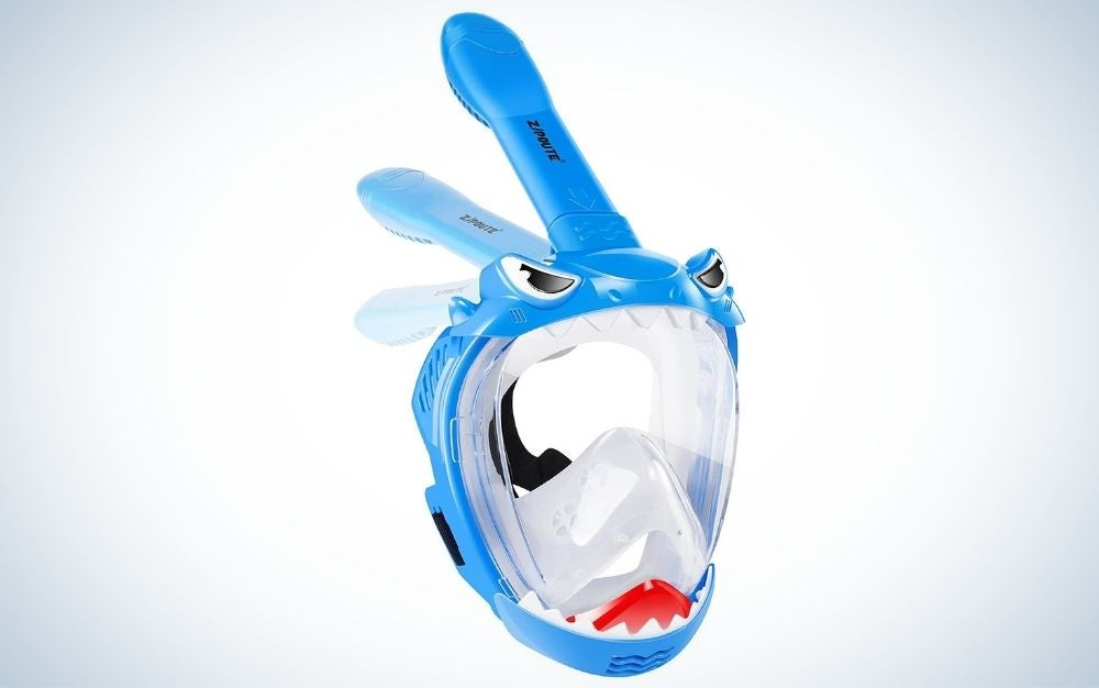 Zipoute makes the best full-face snorkel mask for kids.