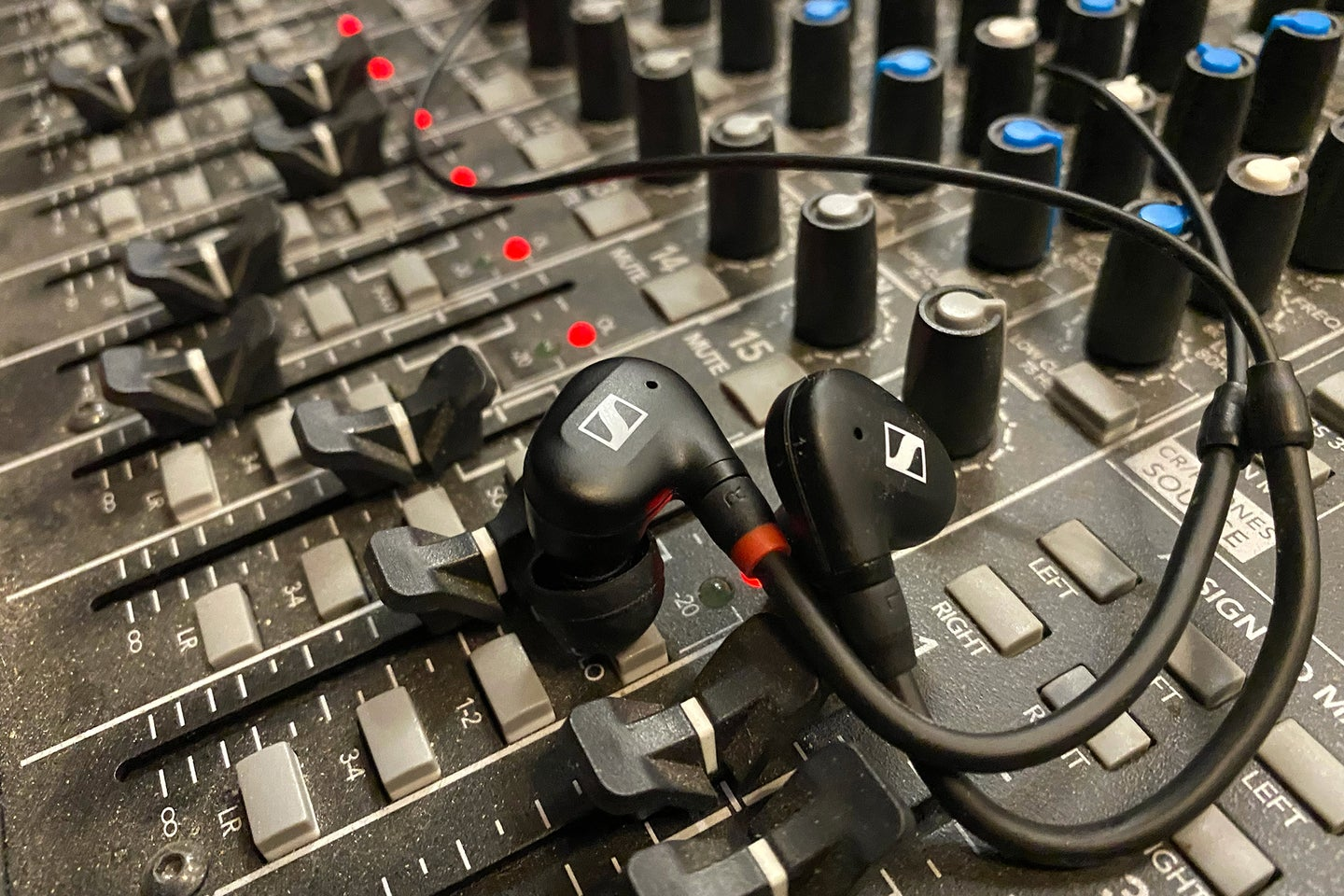 Sennheiser IE 100 Pro on a mixing console