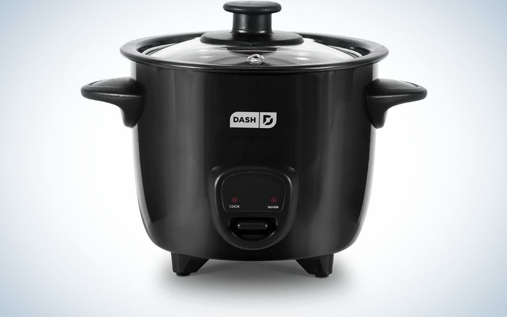 The Dash DRCM200BK Mini Rice Cooker Steam is our pick for best small steamer.