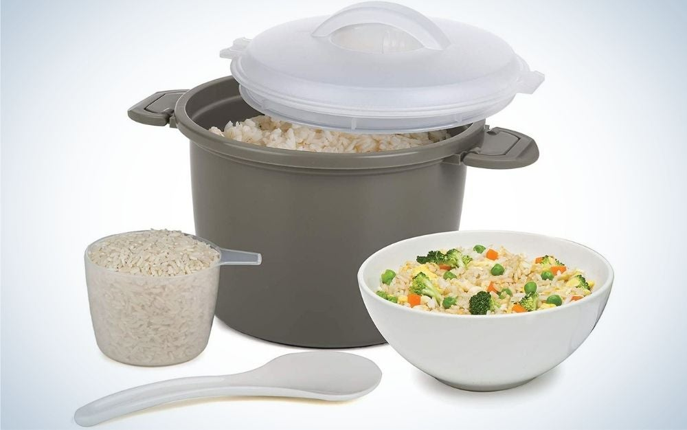 The Progressive International Set Microwave Rice Cooker is our pick for most convenient.