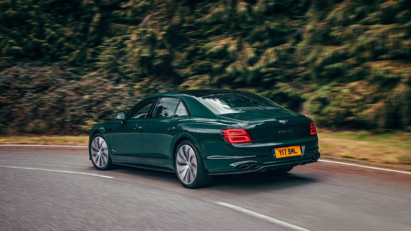 Bentley Flying Spur in forest green