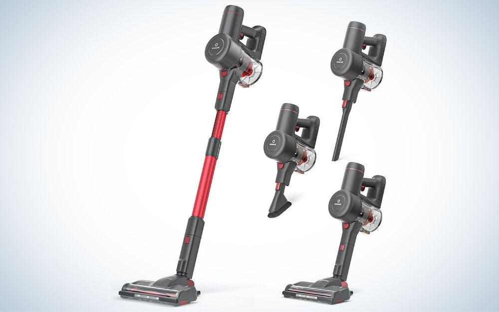 The Nequare Cordless Vacuum is the best stick vacuum for hardwood floors.