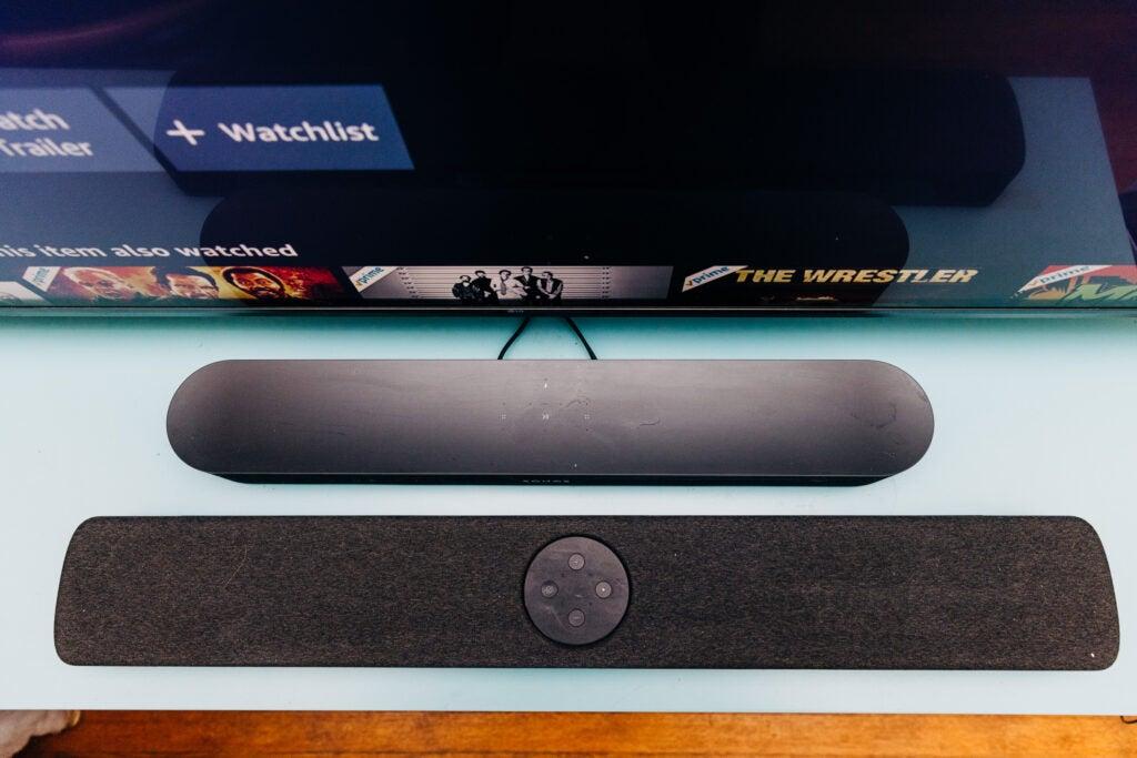 Polk React soundbar compared to Sonos beam