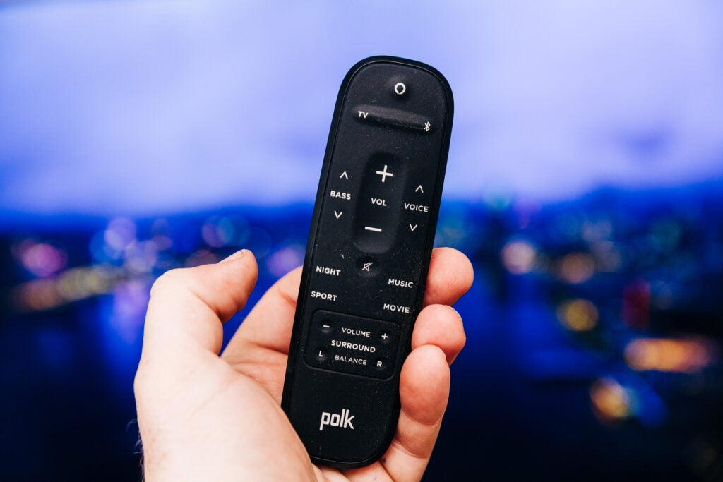 Polk React soundbar remote