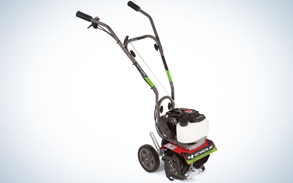 The Earthquake 12802 MC440 Mini Cultivator is the best mini garden tiller.