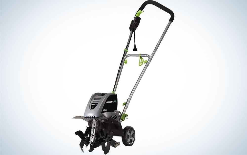 The Earthwise TC70001 Corded Electric Tiller is the best budget garden tiller.