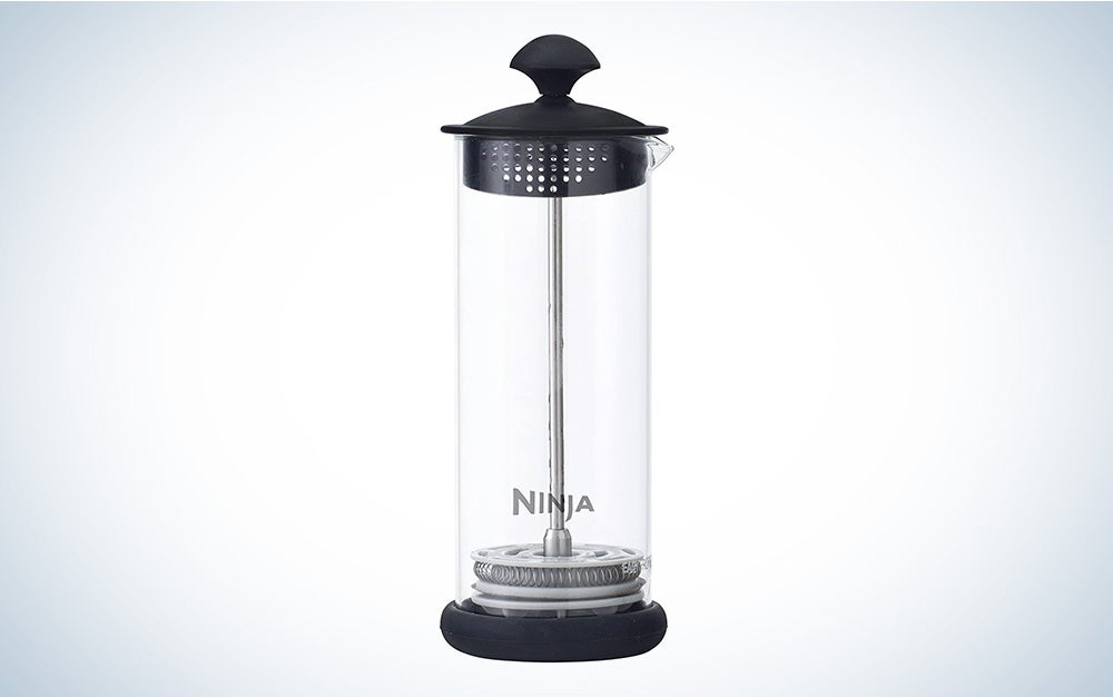 The Ninja Coffee Bar Easy Milk Frother is the best with a pump.