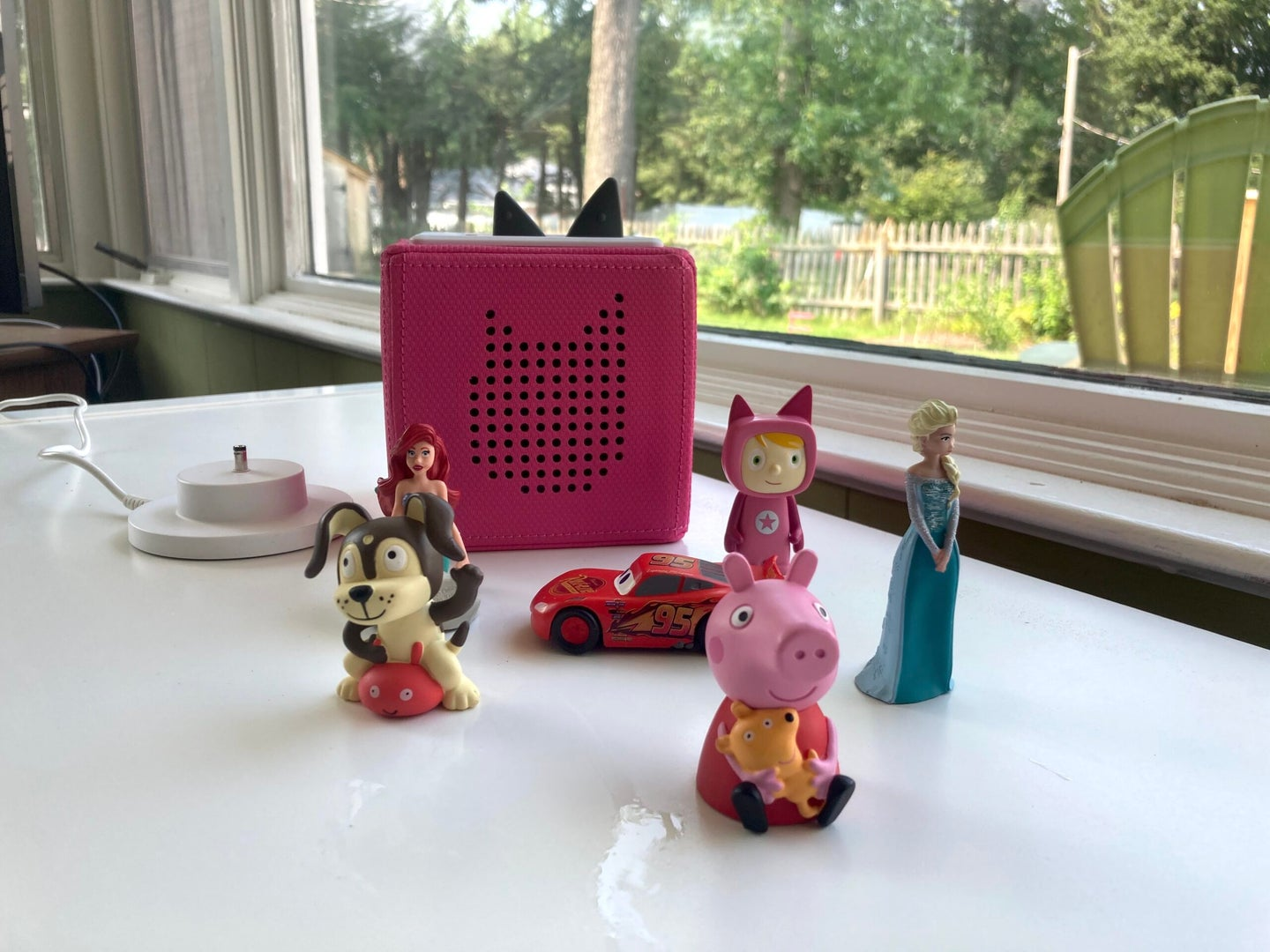 toniebox with a selection of figures