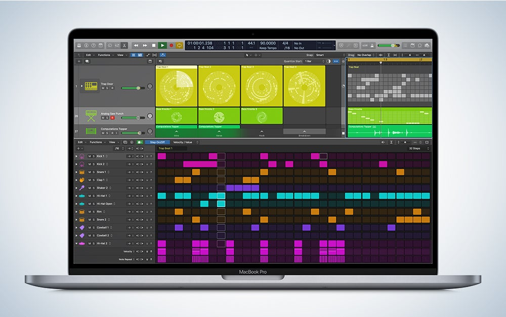 Apple Logic X on a MacBook Pro