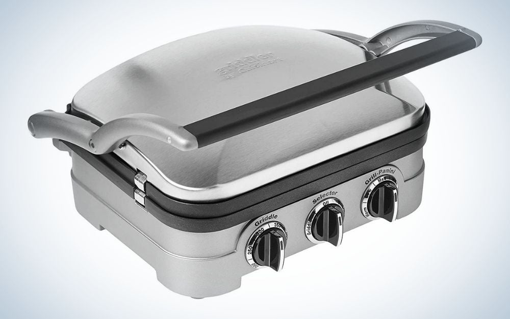The Cuisinart GR-4NP1-5-in-1-Griddler is the best indoor grill for breakfast lovers.