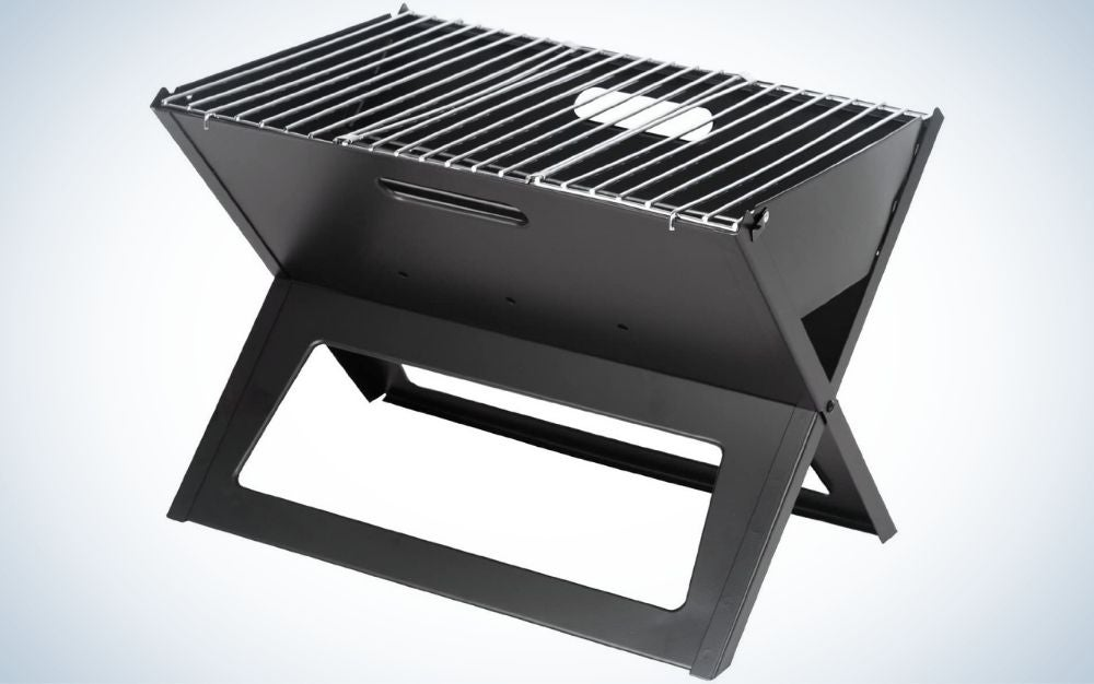 The Fire Sense Black Notebook Charcoal Grill is the best budget pick.