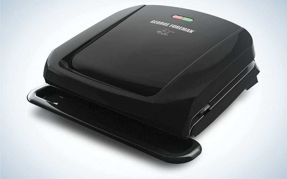 The George Foreman Grill and Panini Press is the best budget indoor grill.