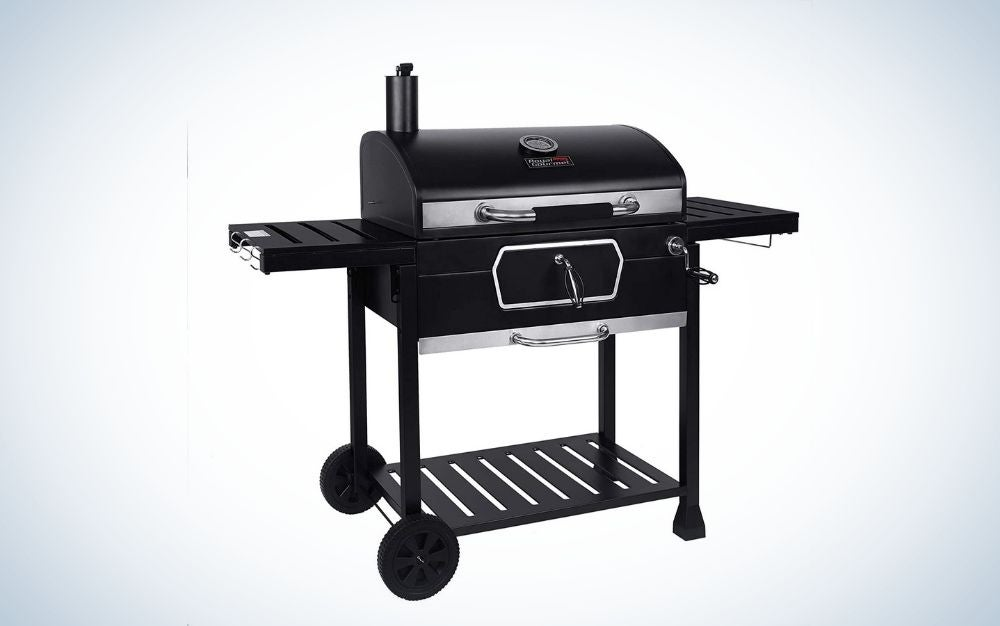 The Royal Gourmet CD2030AN Charcoal Grill and BBQ Smoker is the best for big families.