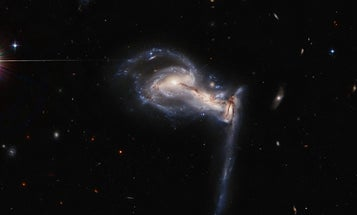 See galactic triplets play tug-of-war in Hubble's latest snapshot