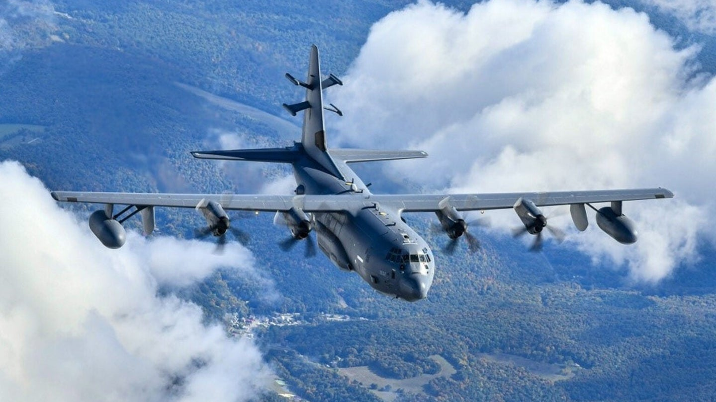 EC130J commando solo Air Force plane