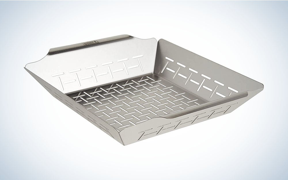 The Weber 6434 Deluxe Ss Vegetable Basket is the best grill basket overall.