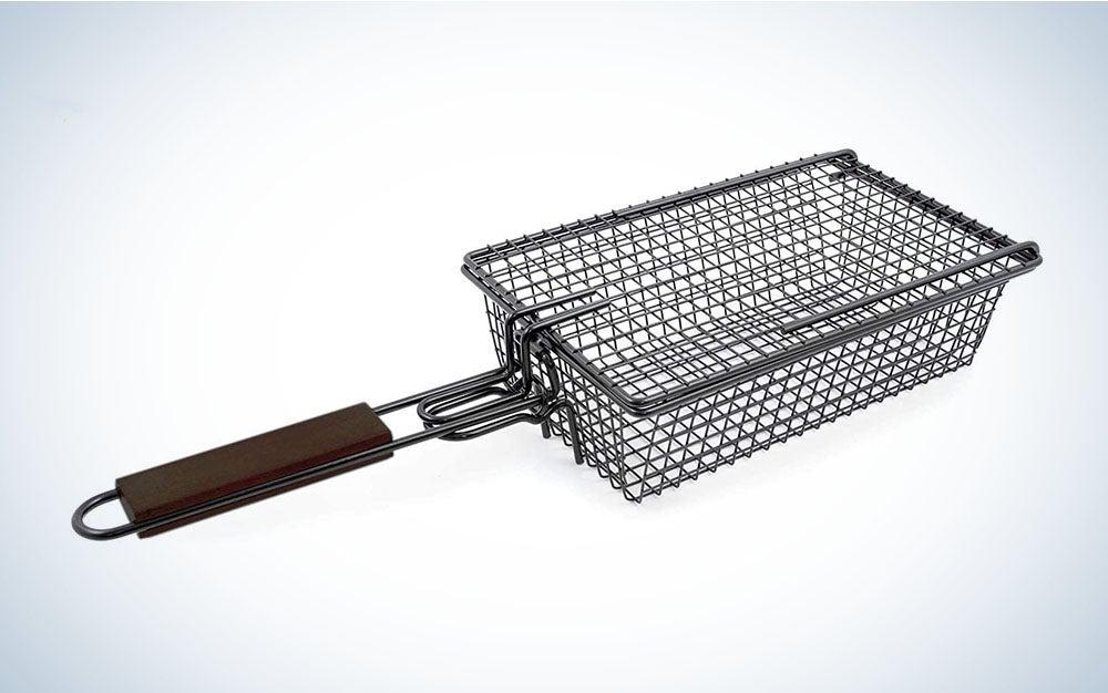 The Yukon Glory Premium Grilling Basket is the best locking grill basket.