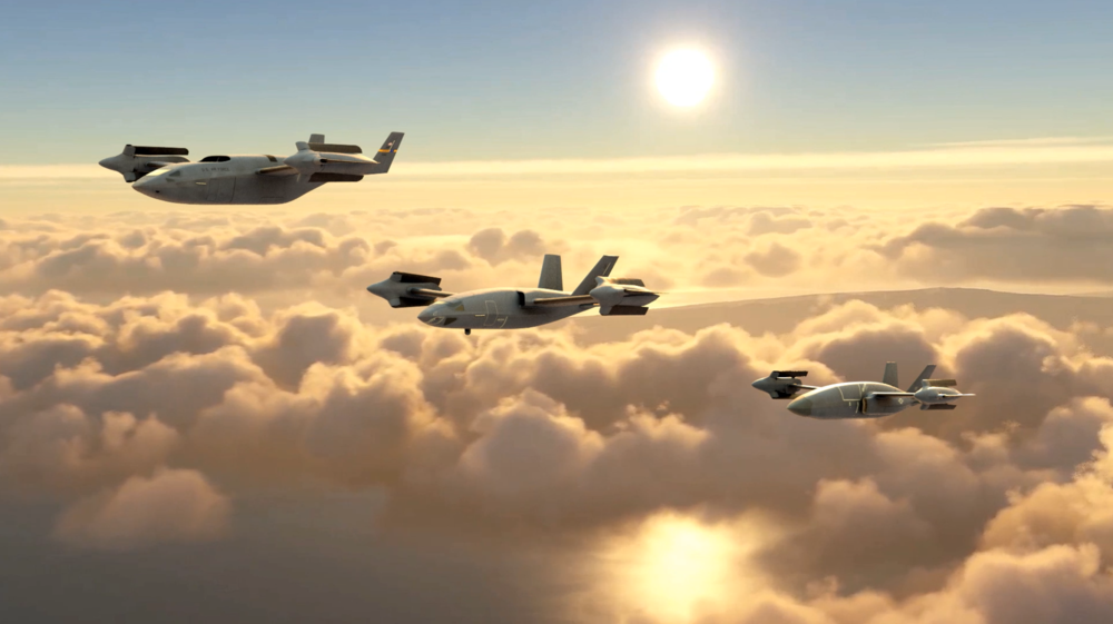 three conceptual aircraft from Bell