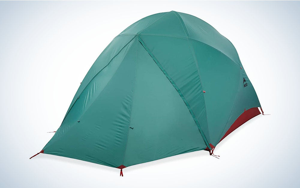 The MSR Habitude 6 Person Tent is the best tent for packing light.