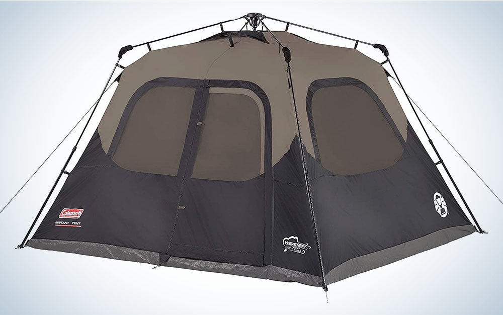 The Coleman Cabin Tent is the best for quick setup.