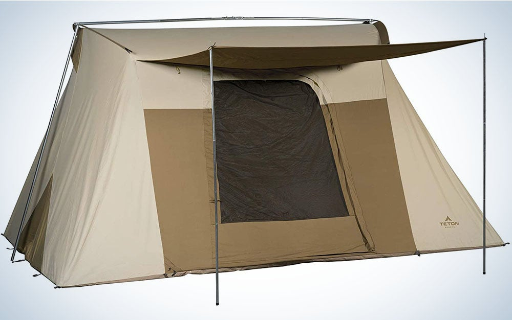 The Teton Sports Mesa Canvas Tent is the best all-weather tent