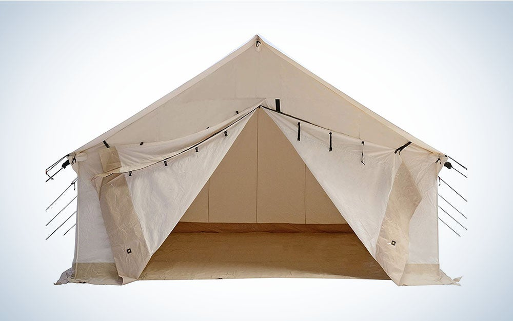 The Whiteduck Alpha Canvas Tent is the best family tent for those with no budget