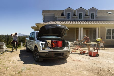 2022 Ford F-150 Lightning electric pickup truck which debuted earlier this year