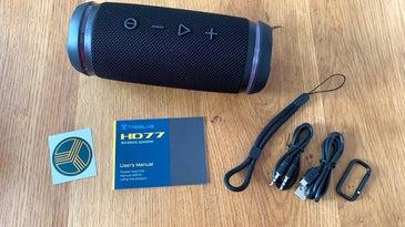 Treblab HD77 with accessories