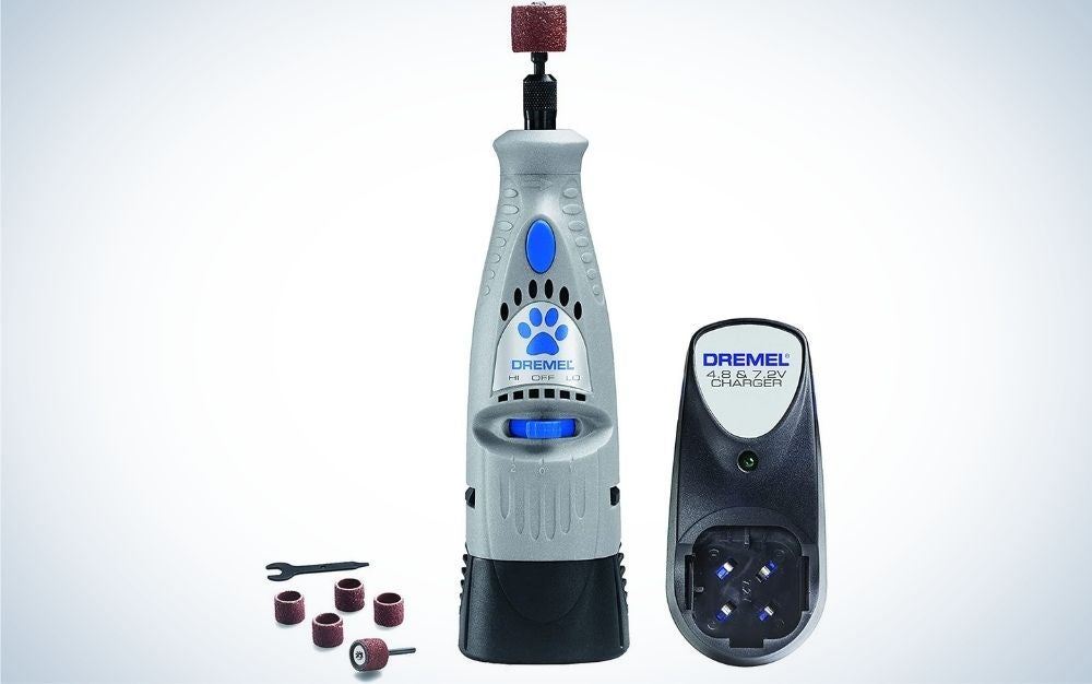 The Dremel 7300-PT is the best dog nail grinder overall.