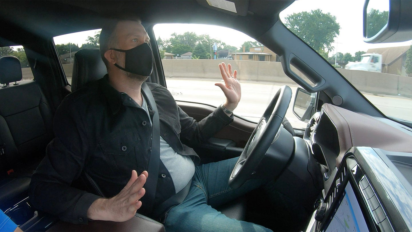 Ford Blue Cruise hands-free driving assistance