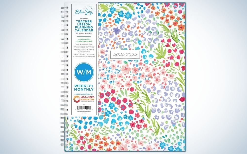 The Blue Sky Academic and Teachers Weekly & Monthly Lesson Planner is the best personalized planner.