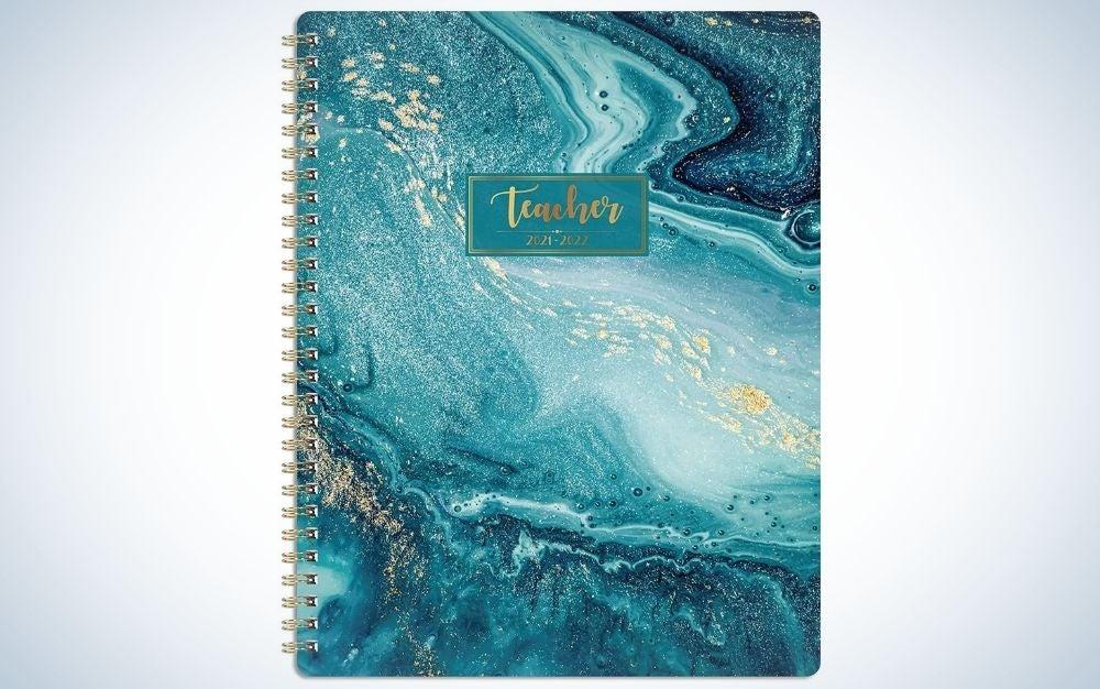 The Journaltastic Teacher Planner is the best hardcover planner.