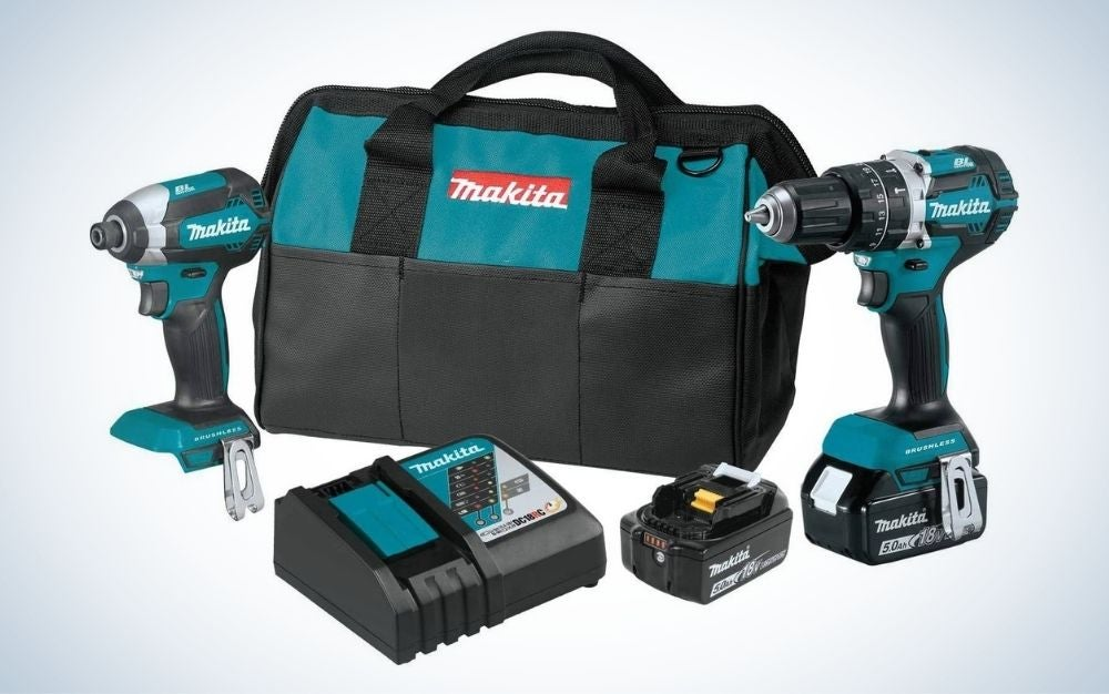 The Makita XT269T 18V Cordless Combo Kit is the best for experienced craftspeople.