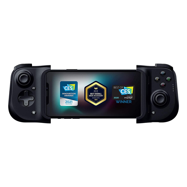 The Razer Kishi mobile game controller.
