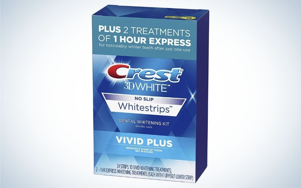 Crest 3D Whitestrips Vivid Plus Teeth-Whitening Kit are the best budget whitening strips.