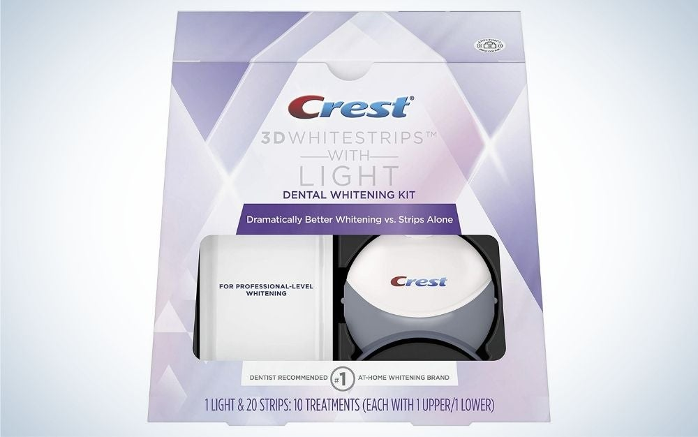 Crest 3D Whitestrips with Light are the best whitening-strip kit.