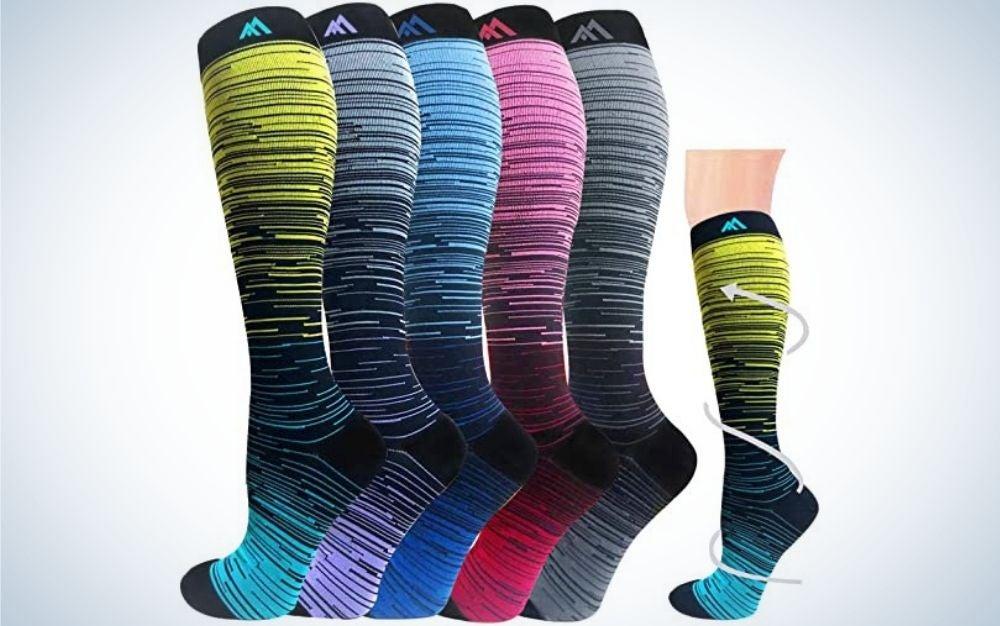 Hi Clasmix Graduated Medical Compression Socks are the best compression socks for women,