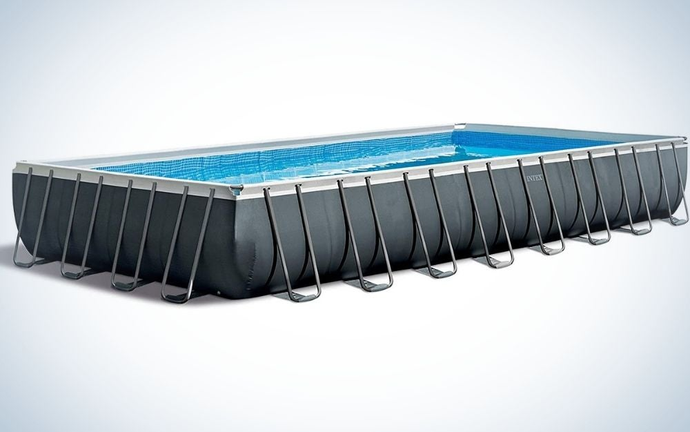 The Intex Above-Ground 32-Foot by 16-Foot by 52-Inch Pool is the best above-ground pool for lap swimmers.