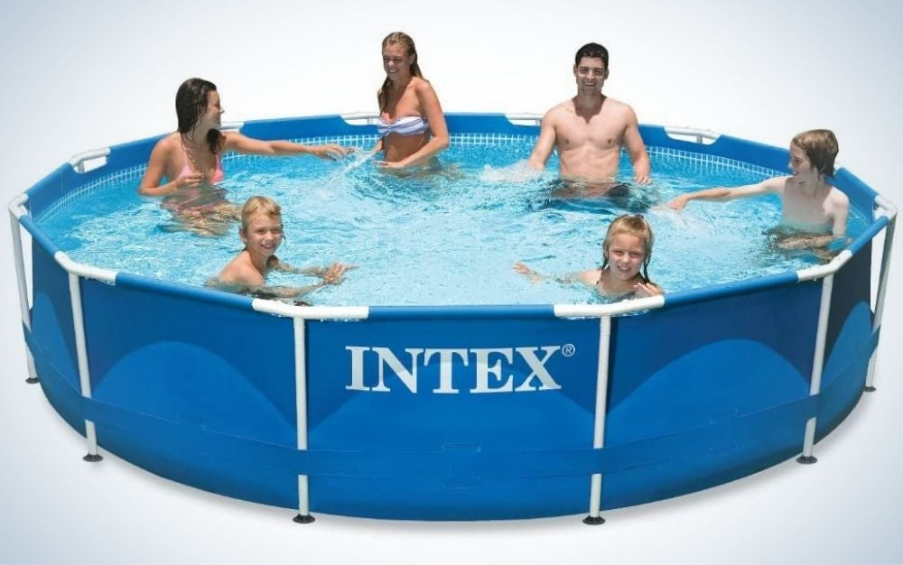 The Intex 28211EH 12-Feet by 30-Inch Above-Ground Pool is the best for families.