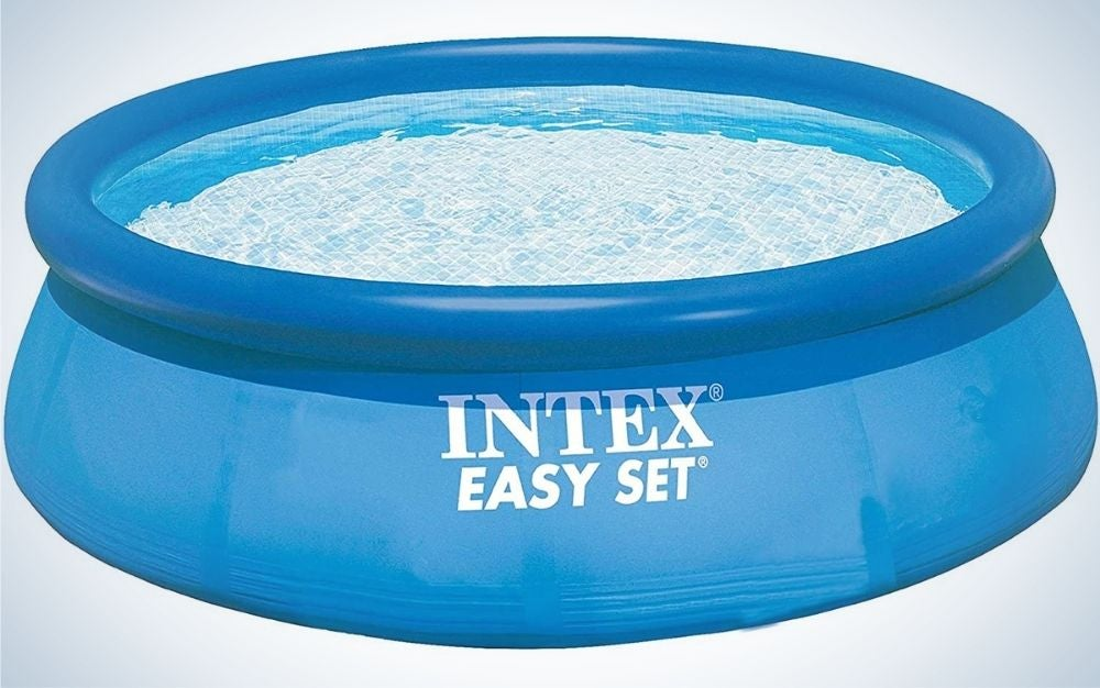 The Intex Swimming Pool Easy Set Eight-Feet by 30 Inches is the best above-ground pool for relaxation.
