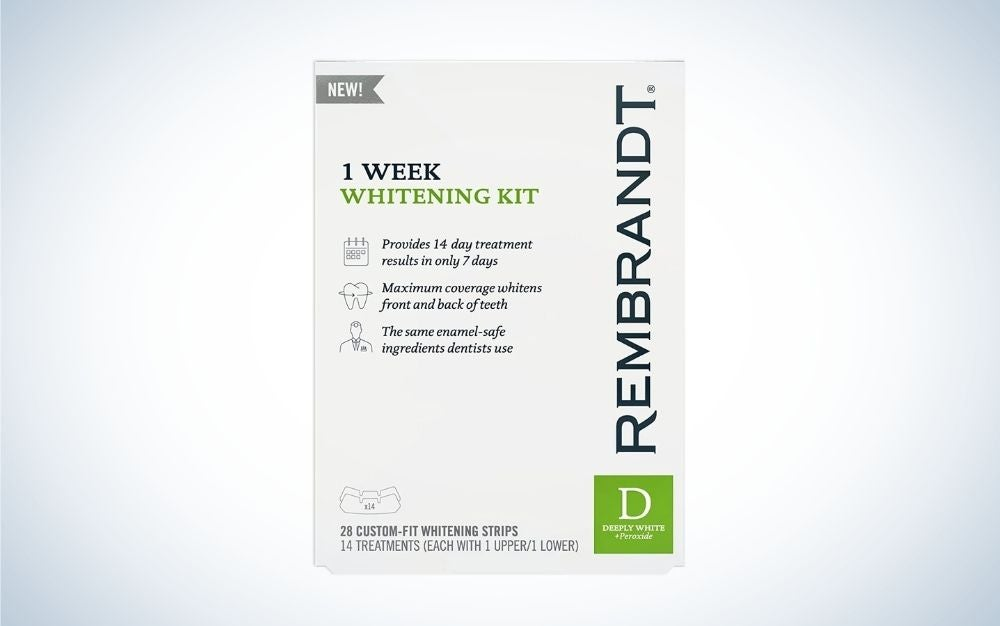 The Rembrandt 1-Week Teeth-Whitening Kit has the best coverage.