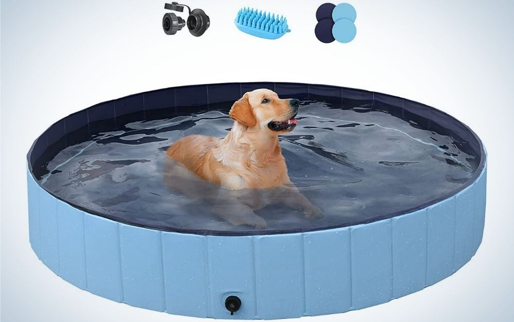 The YAHEETECH Foldable Swimming Pool is the best above-ground pool for babies and pets.