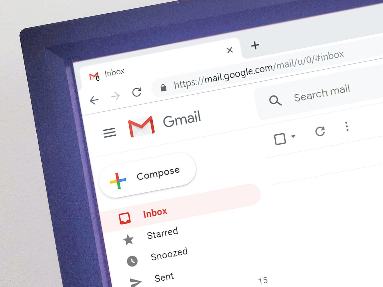 An empty Gmail inbox.