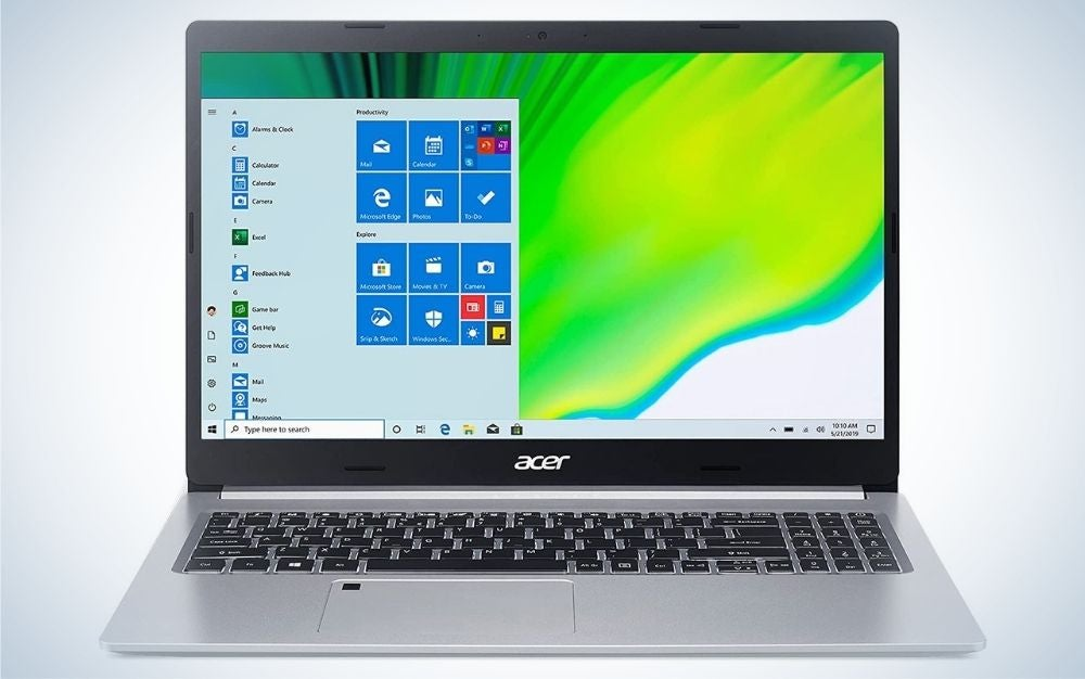 The Acer Aspire 5 is the best laptop for college for someone on a budget.