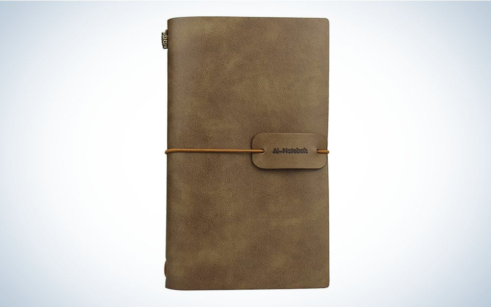 The Ai-Natebok Travel Journal is the best notebook for traveling.