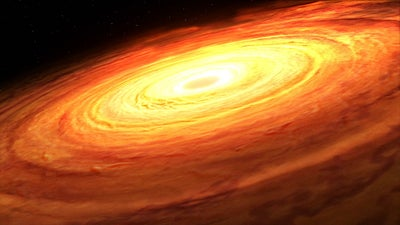 Flickering light could help astronomers weigh supermassive black holes