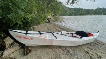 a kayak on a beach