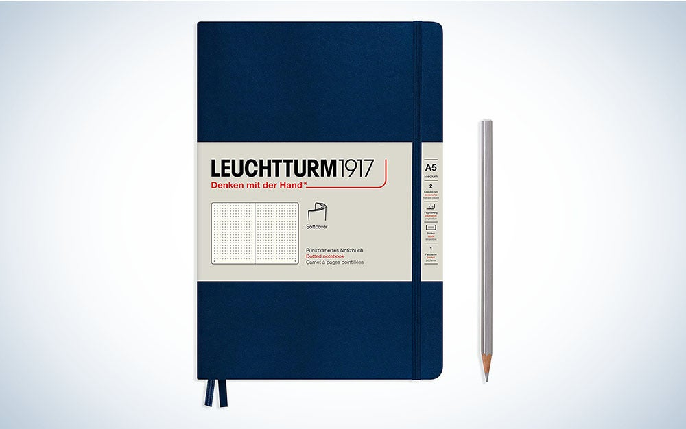 The LEUCHTTURM1917 Medium A5 Dotted Softcover Notebook is the best notebook with a softcover.